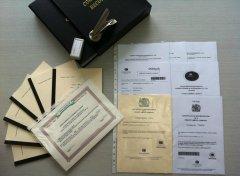 成立BVI公司收到的文件
